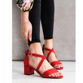 Sandały Z Paseczkami Sergio Leone czerwone 4