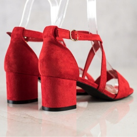 Sandały Z Paseczkami Sergio Leone czerwone 1