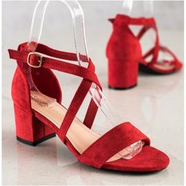 Sandały Z Paseczkami Sergio Leone czerwone 2