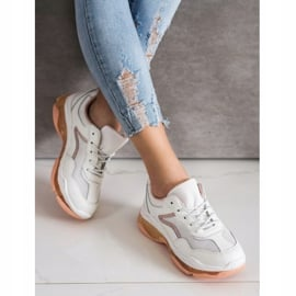 Goodin Sneakersy Ze Skóry białe 5
