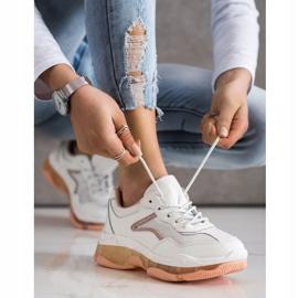 Goodin Sneakersy Ze Skóry białe 4