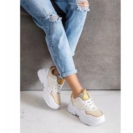 Weide Sneakersy Z Eko Skóry Snake Print białe złoty 3