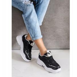 Weide Sneakersy Z Eko Skóry Snake Print czarne 2