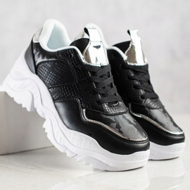 Weide Sneakersy Z Eko Skóry Snake Print czarne 3