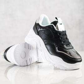 Weide Sneakersy Z Eko Skóry Snake Print czarne 4