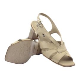 Sandały damskie Anabelle 152 beżowe beżowy 3