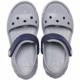Crocs sandały dla dzieci Crosband Sandal Kids szaro-granatowe 12856 01U szare 1