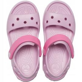 Crocs sandały dla dzieci Crocband Sandal Kids różowe 12856 6GD 1