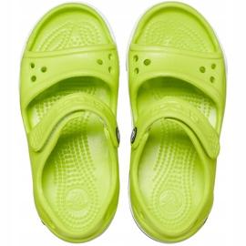Crocs sandały dla dzieci Crocband Ii Sandal limonkowo-czarne 14854 3T3 zielone 1