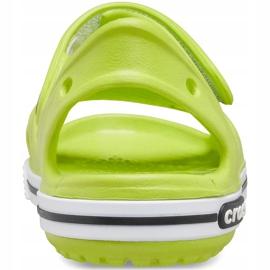 Crocs sandały dla dzieci Crocband Ii Sandal limonkowo-czarne 14854 3T3 zielone 2