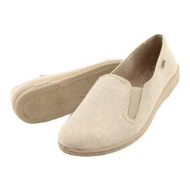 Befado obuwie męskie pvc 001M059 beżowy 3