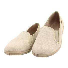 Befado obuwie męskie pvc 001M059 beżowy 2