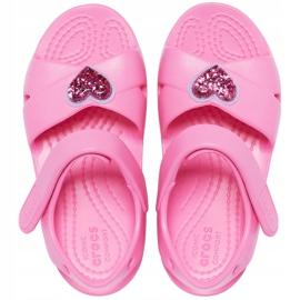 Crocs sandały dla dzieci Classic Cross Strap Charm różowe 206947 669 1