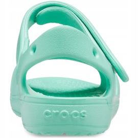 Crocs sandały dla dzieci Classic Cross Strap Charm miętowe 206947 3U3 zielone 2