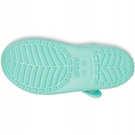 Crocs sandały dla dzieci Classic Cross Strap Charm miętowe 206947 3U3 zielone 3