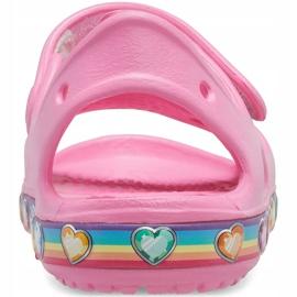 Crocs sandały dla dzieci Fun Lab Rainbow różowe 206795 669 2
