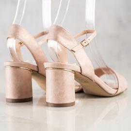 Evento Stylowe Sandały Na Słupku różowe 4