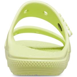 Crocs klapki Classic żółte 206761 3U4 zielone 2
