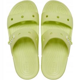 Crocs klapki Classic żółte 206761 3U4 zielone 1