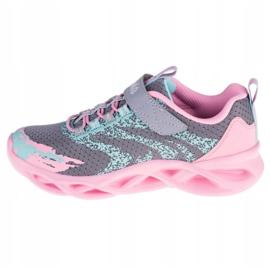 Buty Skechers Twisty Brights W 302301L-GYPK różowe szare 1