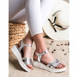 Seastar Sandały Na Platformie srebrny 2
