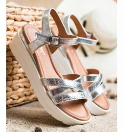 Seastar Sandały Na Platformie srebrny 3
