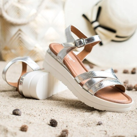 Seastar Sandały Na Platformie srebrny 4