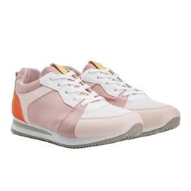 Różowe obuwie sportowe z eko-skóry Elaine 1