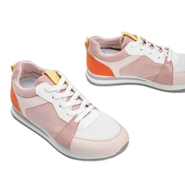 Różowe obuwie sportowe z eko-skóry Elaine 2