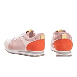 Różowe obuwie sportowe z eko-skóry Elaine 4