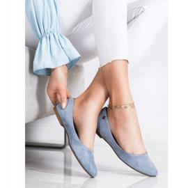 Klasyczne Baleriny Sergio Leone BL622 niebieskie 2