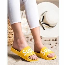 Seastar Gumowe Klapki Super białe żółte 2
