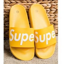Seastar Gumowe Klapki Super białe żółte 3