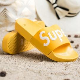 Seastar Gumowe Klapki Super białe żółte 4