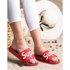 Seastar Gumowe Klapki Super białe czerwone 4