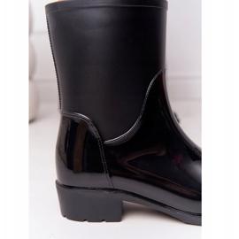 PS1 Błyszczące Kalosze Sztyblety Czarne Rainy Day 1