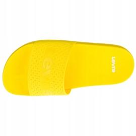 Klapki Levi's June Perf S W 233025-753-73 żółte 2