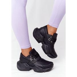 PS1 Damskie Sneakersy Na Masywnej Podeszwie Czarne Bubbly 1
