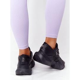 PS1 Damskie Sneakersy Na Masywnej Podeszwie Czarne Bubbly 5