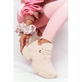 PS1 Damskie Sneakersy Na Masywnej Podeszwie Beżowe Bubbly beżowy 3