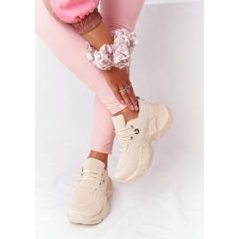 PS1 Damskie Sneakersy Na Masywnej Podeszwie Beżowe Bubbly beżowy 2