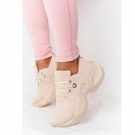 PS1 Damskie Sneakersy Na Masywnej Podeszwie Beżowe Bubbly beżowy 4