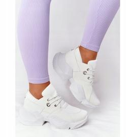 PS1 Damskie Sneakersy Na Masywnej Podeszwie Białe Bubbly 2