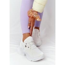 PS1 Damskie Sneakersy Na Masywnej Podeszwie Białe Bubbly 3