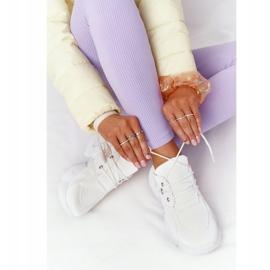 PS1 Damskie Sneakersy Na Masywnej Podeszwie Białe Bubbly 4