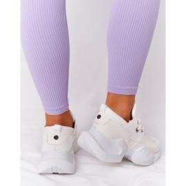 PS1 Damskie Sneakersy Na Masywnej Podeszwie Białe Bubbly 1