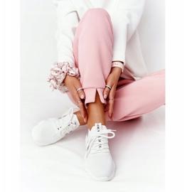 Damskie Sportowe Buty Skarpetkowe GOE HH2N4016 Białe czarne 3