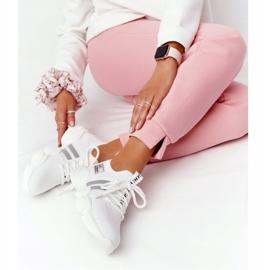 Damskie Sportowe Buty Skarpetkowe GOE HH2N4016 Białe czarne 4