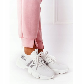 Damskie Sportowe Buty Skarpetkowe GOE HH2N4016 Białe czarne 7