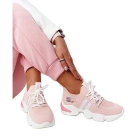 Damskie Sportowe Buty Skarpetkowe GOE HH2N4019 Różowe białe 3
